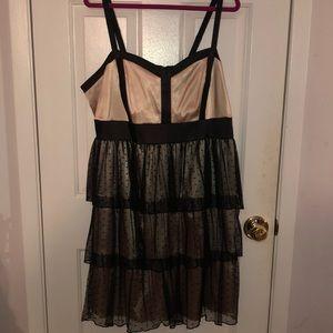 Vintage Torrid Nude and Black Party Dress
